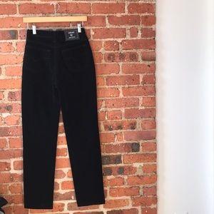 """Vintage black velvet VERSACE pants 25"""""""